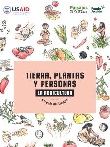Tierra plantas y personas